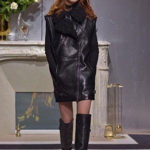 H&M leather vest long
